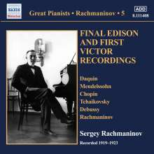 Sergej Rachmaninoff - Final Edison and First Victor Recordings, CD