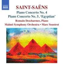 Camille Saint-Saens (1835-1921): Klavierkonzerte Nr.4 & 5, CD