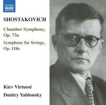 Dmitri Schostakowitsch (1906-1975): Kammersymphonie op.73a, CD