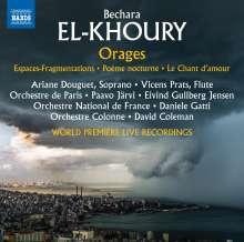Bechara El-Khoury (geb. 1957): Orages (Konzert-Ouvertüre), CD
