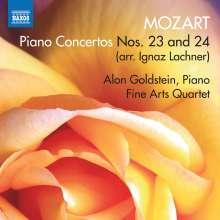 Wolfgang Amadeus Mozart (1756-1791): Klavierkonzerte Nr.23 & 24 (arr. für Klavier & Streichquartett von Ignaz Lachner), CD
