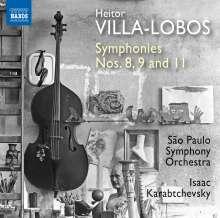 Heitor Villa-Lobos (1887-1959): Symphonien Nr.8,9,11, CD