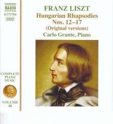 Franz Liszt (1811-1886): Klavierwerke Vol.48 - Ungarische Rhapsodien Nr.12-17, CD