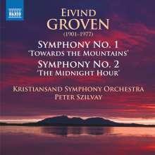"Eivind Groven (1901-1977): Symphonien Nr.1 op.26 ""Towards the Mountains"" & Nr.2 op.34 ""The Midnight Hour"", CD"