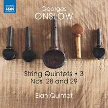 Georges Onslow (1784-1852): Streichquintette Vol.3, CD