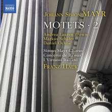 Johann Simon (Giovanni Simone) Mayr (1763-1845): Motetten Vol.2, CD