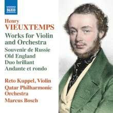 Henri Vieuxtemps (1820-1881): Werke für Violine & Orchester, CD