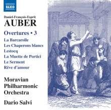 Daniel-Francois-Esprit Auber (1782-1871): Ouvertüren Vol.3, CD