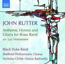 John Rutter (geb. 1945): Anthems, Hyms & Gloria für Blechbläserensemble, CD