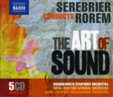 """Ned Rorem (geb. 1923): Serebrier conducts Rorem  """"The Art of Sound"""", 5 CDs"""