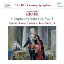 Josef Martin Kraus (1756-1792): Symphonien in D,E,F, CD