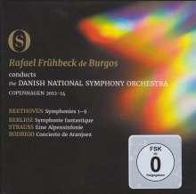 Ludwig van Beethoven (1770-1827): Symphonien Nr.1-9, 3 Blu-ray Discs