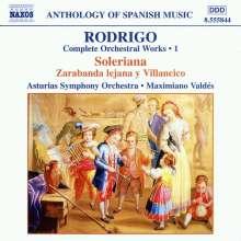 Joaquin Rodrigo (1901-1999): Orchesterwerke Vol.1, CD