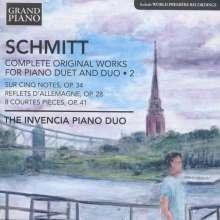 Florent Schmitt (1870-1958): Sämtliche Werke für 2 Klaviere & Klavier 4-händig Vol.2, CD