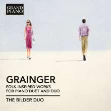 Percy Grainger (1882-1961): Folk-Inspired Works für Klavier 4-händig & 2 Klaviere, CD