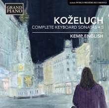 Leopold Kozeluch (1747-1818): Sämtliche Sonaten für Tasteninstrumente Vol.5, CD