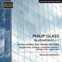"""Philip Glass (geb. 1937): Klavierwerke """"Glassworlds 1"""", CD"""