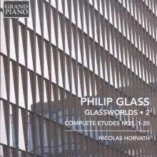 """Philip Glass (geb. 1937): Klavierwerke """"Glassworlds 2"""", CD"""
