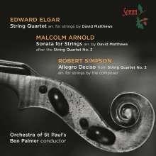 Edward Elgar (1857-1934): Streichquartett op.83 (arr. für Streichorchester), CD