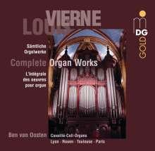 Louis Vierne (1870-1937): Sämtliche Orgelwerke, 9 CDs