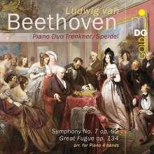 Ludwig van Beethoven (1770-1827): Symphonie Nr.7 (Fassung für Klavier 4-händig von Xaver Scharwenka), Super Audio CD