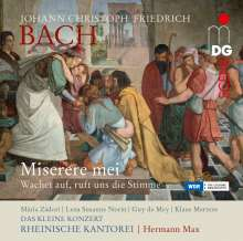 Johann Christoph Friedrich Bach (1732-1795): Miserere in c, CD