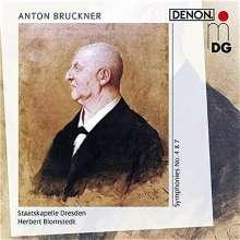 Anton Bruckner (1824-1896): Symphonien Nr.4 & 7, 2 CDs