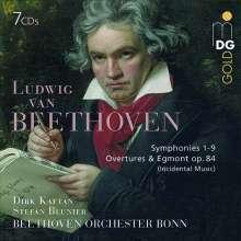 Ludwig van Beethoven (1770-1827): Symphonien Nr.1-9, 7 CDs