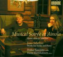 "Jean Sibelius (1865-1957): Werke für Violine & Klavier - ""Musical Soiree at Ainola"", CD"