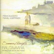 Einojuhani Rautavaara (1928-2016): Werke für Violine & Klavier, CD