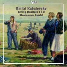 Dimitri Kabalewsky (1904-1987): Streichquartette Nr.1 & 2, CD