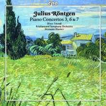 Julius Röntgen (1855-1932): Klavierkonzerte Nr.3,6,7, CD