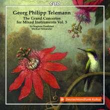 Georg Philipp Telemann (1681-1767): Konzerte für mehrere Instrumente & Orchester Vol.5, CD