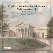 Friedrich Wilhelm Heinrich Benda (1745-1814): Violakonzerte Nr.1-3 (F-Dur, Es-Dur, Es-Dur), CD