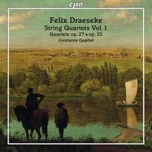 Felix Draeseke (1835-1913): Streichquartette Nr.1 & 2 (op.27 & op.35), CD