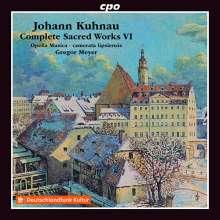 Johann Kuhnau (1660-1722): Sämtliche geistliche Werke Vol.6, CD