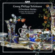 Georg Philipp Telemann (1681-1767): Ouvertüren G-Dur TWV 55:G1, G-Dur TWV 55:G5, B-Dur TWV 55:B13, CD