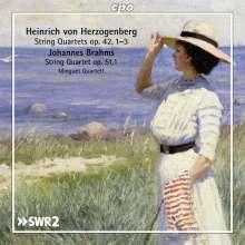 Heinrich von Herzogenberg (1843-1900): Streichquartette Vol.3, 2 CDs