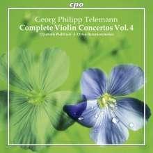 Georg Philipp Telemann (1681-1767): Sämtliche Violinkonzerte Vol.4, CD