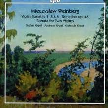 Mieczyslaw Weinberg (1919-1996): Violinsonaten Nr.1-3,6, 2 CDs