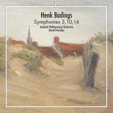 Henk Badings (1907-1987): Symphonien Nr.3,10,14, CD