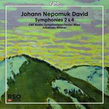 Johann Nepomuk David (1895-1977): Symphonien Nr.2 & 4, CD