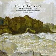 Friedrich Gernsheim (1839-1916): Symphonien Nr.1 g-moll op.32 & Nr.3 c-moll op.54, CD
