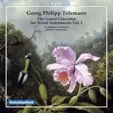 Georg Philipp Telemann (1681-1767): Konzerte für mehrere Instrumente & Orchester Vol.1, CD