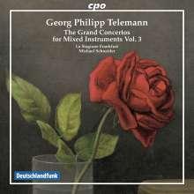 Georg Philipp Telemann (1681-1767): Konzerte für mehrere Instrumente & Orchester Vol.3, CD