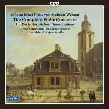 Johann Ernst Prinz von Sachsen-Weimar (1696-1715): Concerti Nr.1-8 für Violine, Streicher, Bc, CD