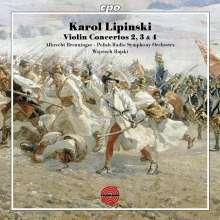 Karol Lipinski (1790-1861): Violinkonzerte Nr.2-4, CD