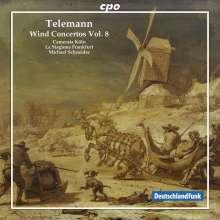 Georg Philipp Telemann (1681-1767): Bläserkonzerte Vol.8, CD