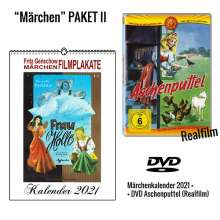 Aschenputtel (1955) + Fritz Genschow Märchen Filmplakate Kalender 2021, 1 DVD und 1 Kalender