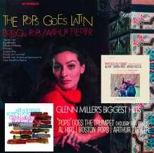 Arthur Fiedler - Pops Goes The Trumpet /The Pops Goes Latin / Glenn Miller's Biggest Hits, 2 CDs